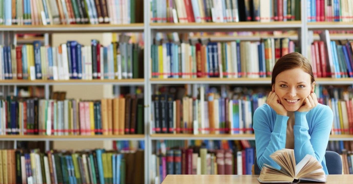 girl library books
